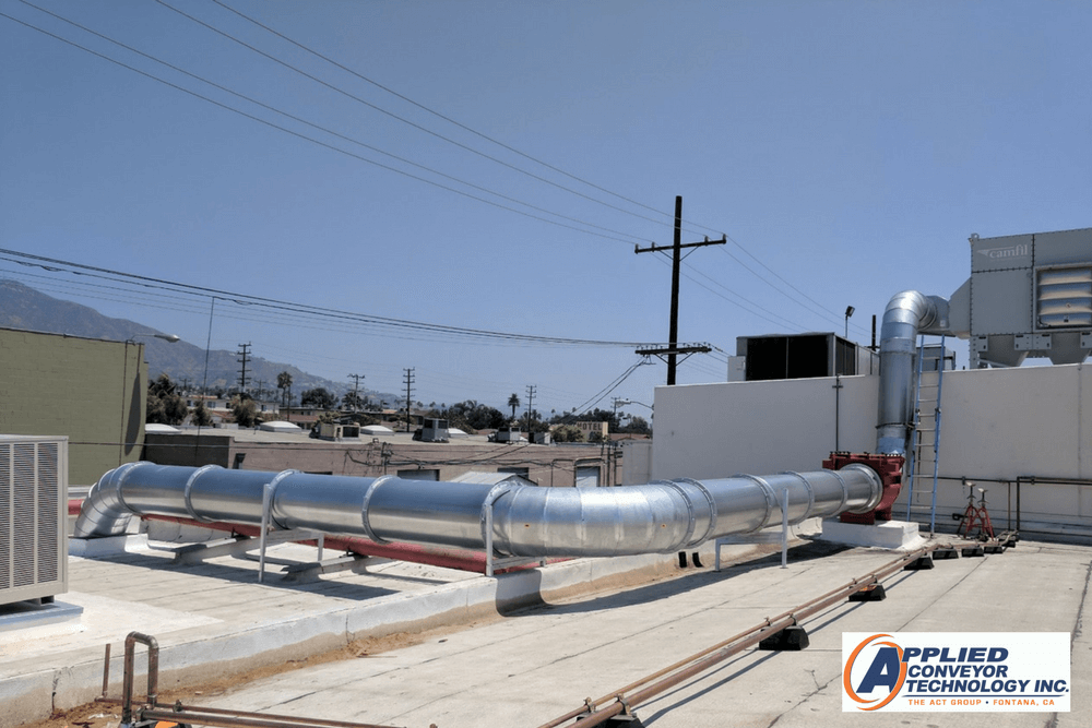 Outdoor ductwork system with dust collectors